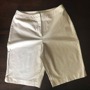 Chico's Brigitte Mini-Striped Bermuda Shorts 1 / 8